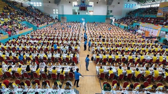 1200 kỳ thủ dự giải cờ vua trẻ toàn quốc 2020