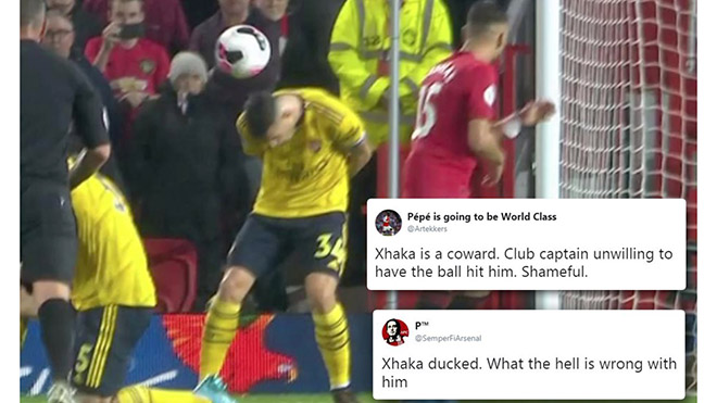 CĐV Arsenal chỉ trích đội trưởng Xhaka thậm tệ vì né cú sút thành bàn của McTominay