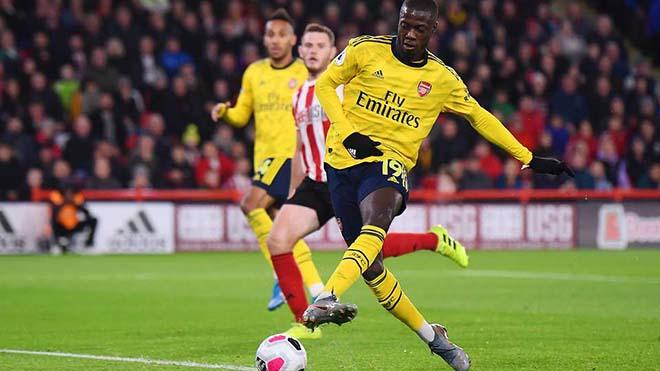 Ket qua bong da, kết quả bóng đá, Sheffield United vs Arsenal, Sheffield 1-0 Arsenal, BXH bóng đá Anh, Nicolas Pepe, bom tấn 72 triệu bảng, bỏ lỡ khó tin, bong da, kqbd