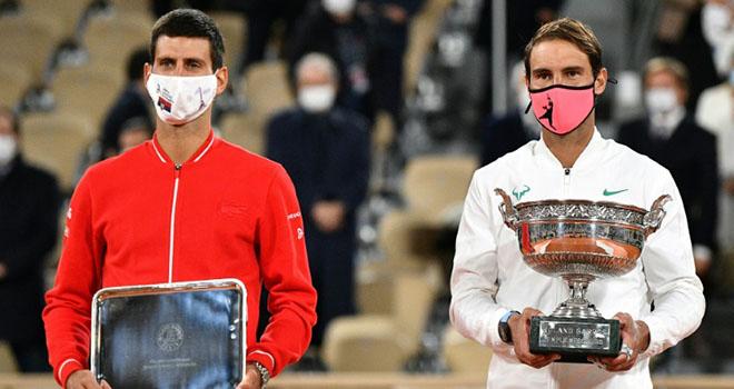 Nadal, Nadal vô địch Roland Garros, Nadal muốn vượt Federer, Kết quả tennis, Federer, Nadal 3-0 Djokovic, Nadal đánh bại Djokovic, Nadal vô địch Pháp mở rộng 2020