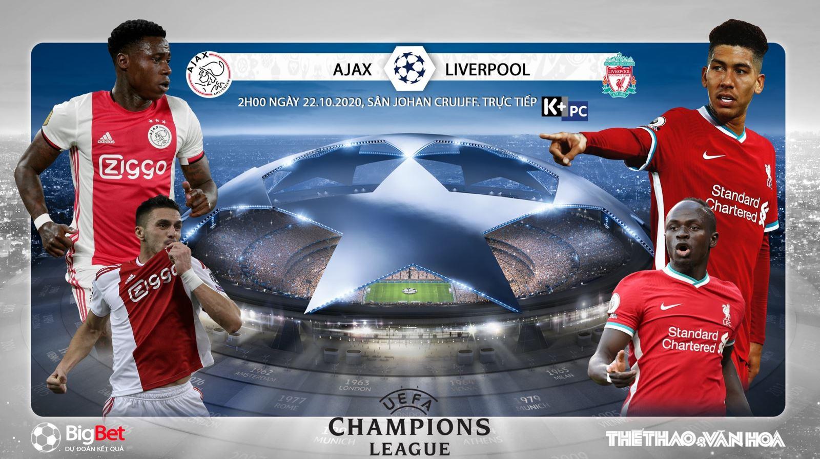 Soi kèo nhà cái Ajax vs Liverpoool. Vòng bảng Cúp C1 châu Âu. Trực tiếp K+PM