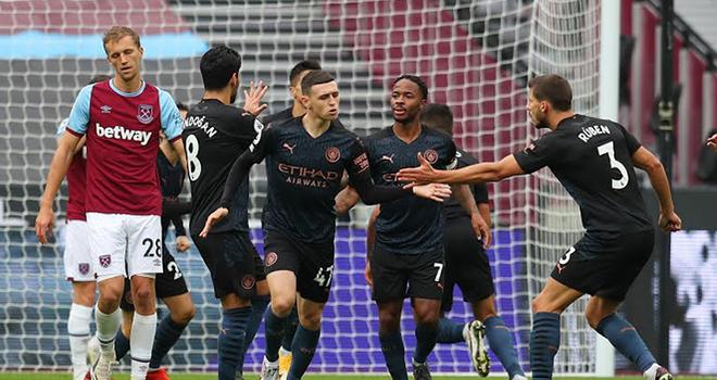 Video West Ham 1-1 Man City. Video clip bàn thắng trận West Ham vs Man City.Kết quả bóng đá Man Cityđấu với West Ham. Kết quả Ngoại hạng Anh vòng 6. BXH bóng đá Anh