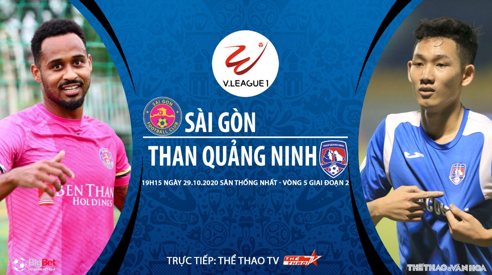 Soi kèo nhà cái. Sài Gòn vs Than Quảng Ninh. Trực tiếp bóng đá Việt Nam 2020
