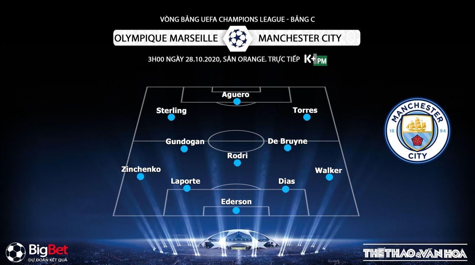 Keo nha cai, kèo nhà cái, Marseille vs Man City, Trực tiếp bóng đá Cúp C1 châu Âu, K+PM, trực tiếp bóng đá Man City đấu với Marseille, kèo bóng đá, kèo Man City, Cúp C1