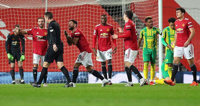 MU 1-0 West Brom, Kết quả Ngoại hạng Anh, BXH bóng đá Anh, Ole, Ole phát biểu, Ole chưa hài lòng, kết quả MU vs West Brom, Bruno Fernandes, phạt đền, MU