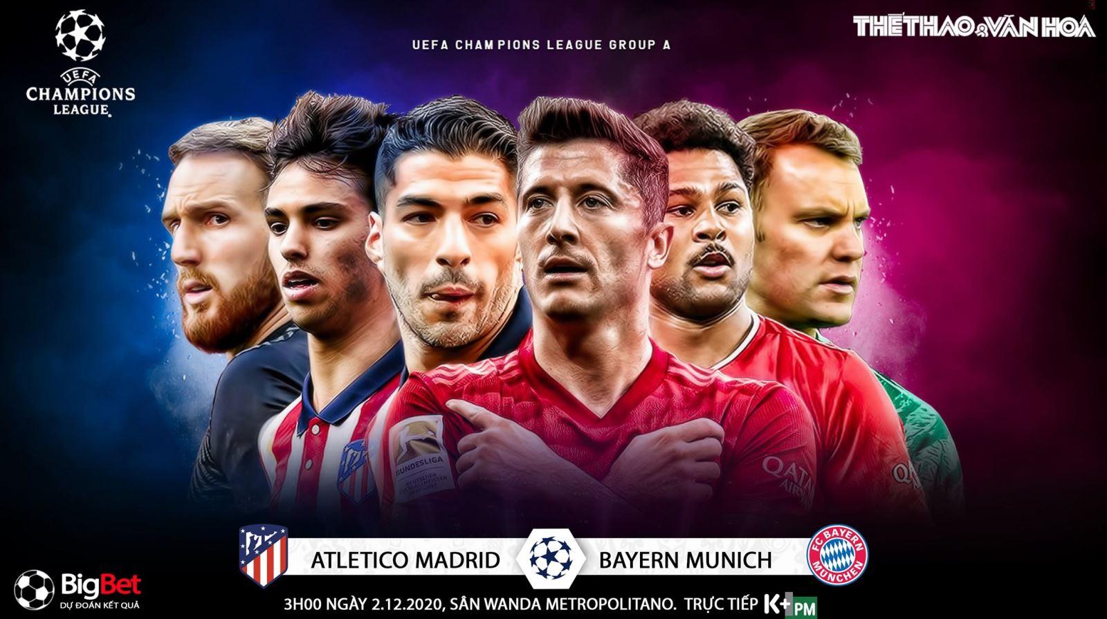 Soi kèo nhà cáiAtletico Madrid vs Bayern Munich. Vòng bảng Champions League