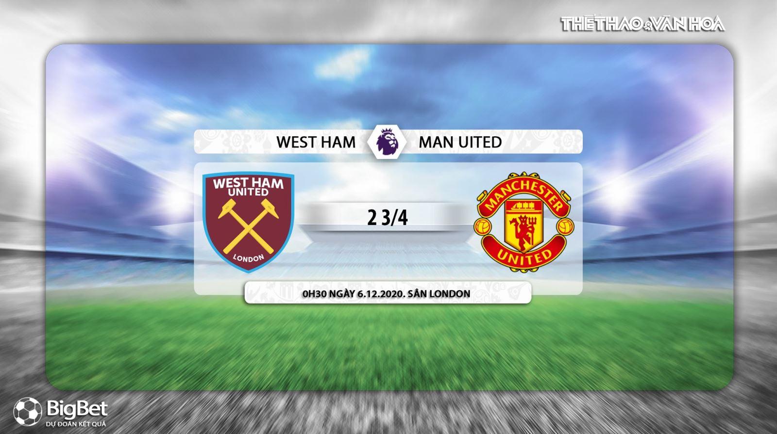 Keo nha cai, kèo nhà cái, West Ham vs MU, truc tiep bong da, ngoai hang Anh vòng 10, kèo bóng đá, trực tiếp MU đấu với West Ham, trực tiếp bóng đá Anh, kèo MU, K+PM, K+