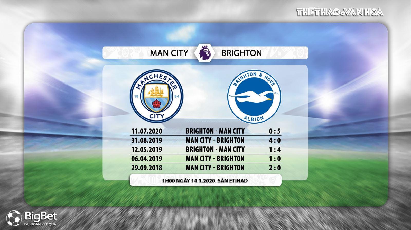 Link trực tiếpMan City vs Brighton. K+, K+PM trực tiếp bóng đá Ngoại hạng Anh