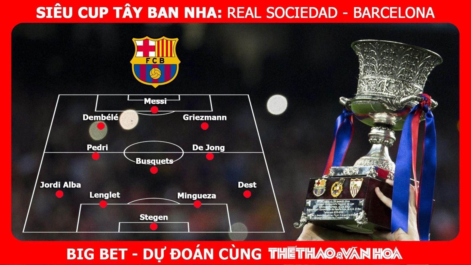 Link xem trực tiếpReal Sociedad vs Barcelona. Trực tiếp Bán kết Siêu Cúp Tây Ban Nha.Trực tiếp bóng đá. Trực tiếp Real Sociedad đấu vớiBarcelona. Kèo Barca