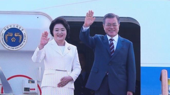 Tổng thống Hàn Quốc rời thủ đô Seoul tới Bình Nhưỡng dự thượng đỉnh liên Triều