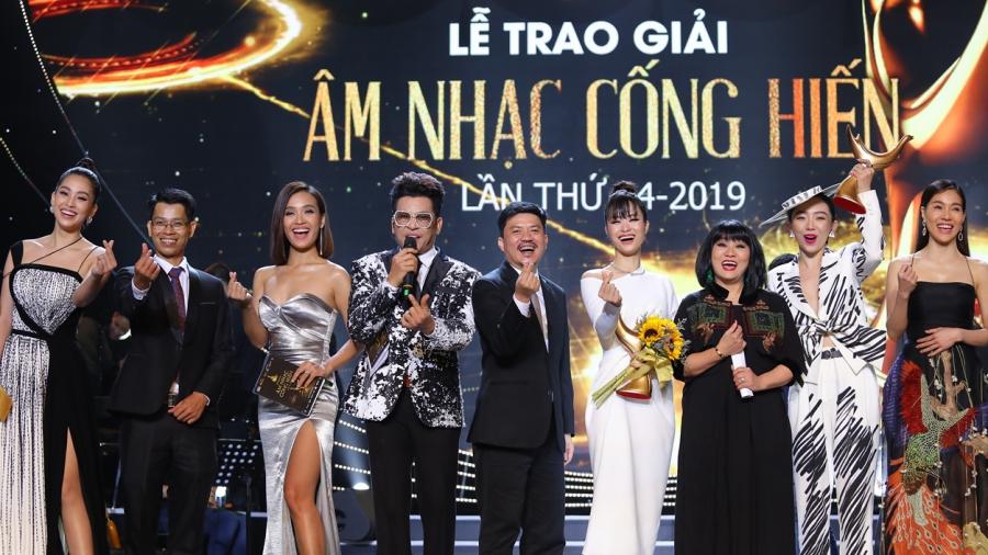 Trao giải Âm nhạc Cống hiến lần 14-2019: Đông Nhi nghẹn ngào nhận cúp Cống hiến