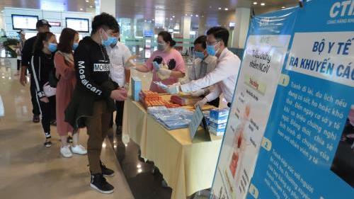 Dịch COVID-19: Trong 5 ngày, 1.868 khách từ vùng dịch qua sân bay Cần Thơ