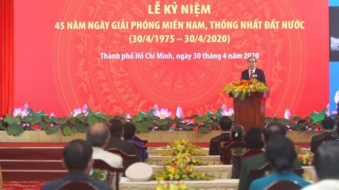 Lễ kỷ niệm 45 năm Ngày Giải phóng miền Nam, thống nhất đất nước tại Thành phố Hồ Chí Minh