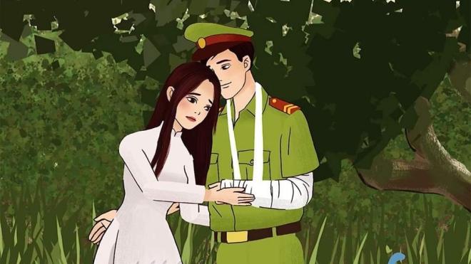 Nhạc sĩ An Hiếu ra mắt MV hoạt hình 'Tình yêu lính công an'