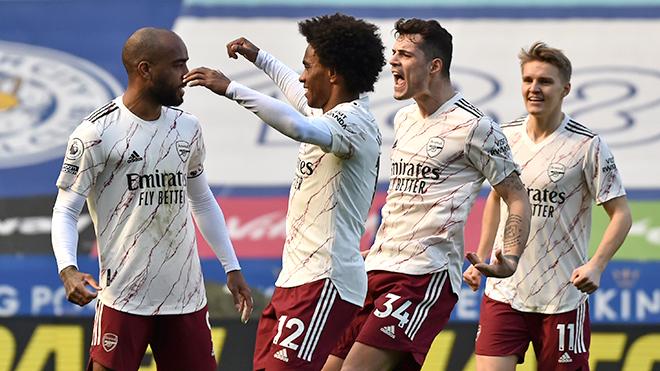 Leicester 1-3 Arsenal, kết quả bóng đá, Leicester-Arsenal, kết quả Leicester vs Arsenal, bảng xếp hạng ngoại hạng Anh, lịch thi đấu ngoại hạng Anh, Arsenal