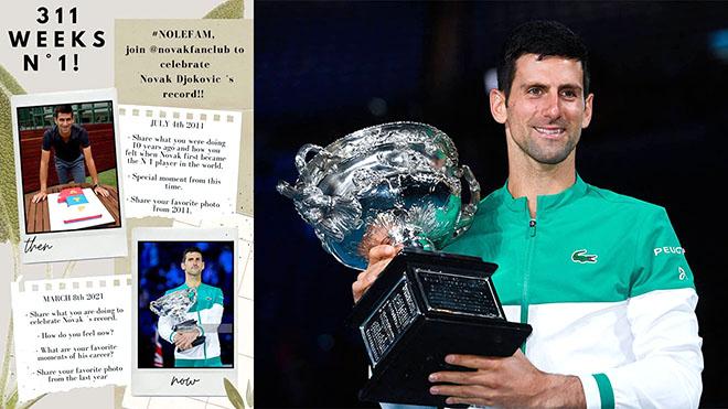 Djokovic, Djokovic lập kỷ lục, Ngôi số 1 ATP, Cristiano Ronaldo của quần vợt, Novak Djokovic, kỷ lục Grand Slam, Grand Slam, Rafael Nadal, Roger Federer, Australian Open