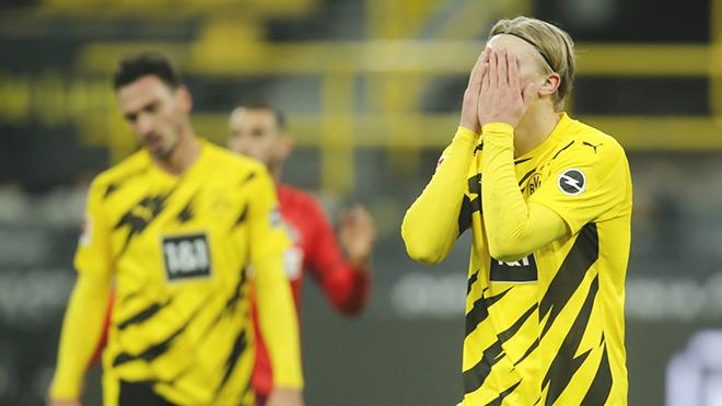 Dortmund, Dortmund vs Cologne, Bóng đá Đức, BXH Bundesliga, Kết quả Bundesliga, Bayern Munich, Cuộc đua vô địch Bundesliga, Erling Haaland. Sancho, Bundesliga