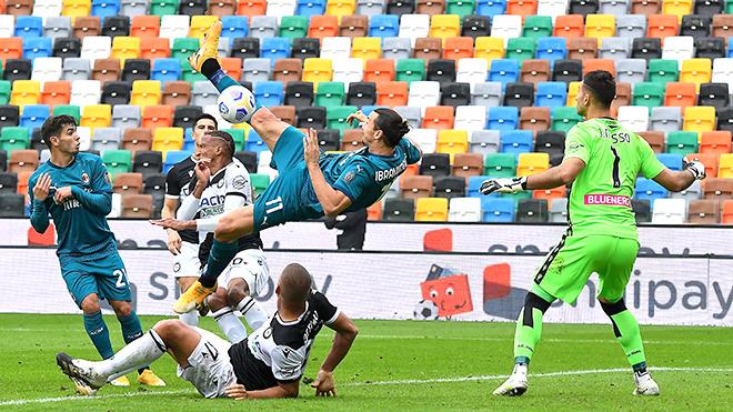 Ket qua bong da, Udinese vs Milan, Milan thăng hoa, Không thể ngăn Ibrahimovic, Milan, Ibrahimovic, Zlatan Ibrahimovic, kết quả bóng đá Ý, Bảng xếp hạng Serie A