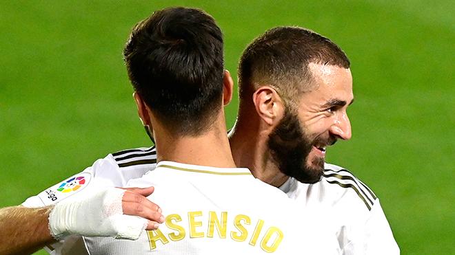 Bong da, Bóng đá tây Ban Nha, Hàng công Real Madrid, Real Madrid, tin tức bóng đá, Karim Benzema, Benzema, Hazard, Asensio, La Liga, cuộc đua vô địch, BXH La Liga, Barca