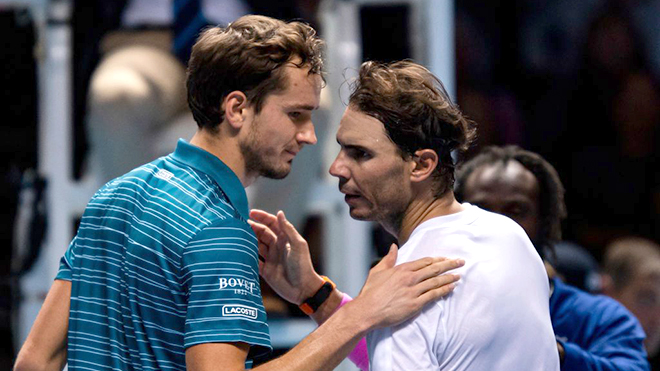 Lịch thi đấu tennis, trực tiếp tennis, tennis, quần vợt, Nadal vs Tsitsipas, Nadal vs Medvedev, trực tiếp ATP Finals, ATP Finals, Nadal ngược dòng, Nadal, K+, K+PC