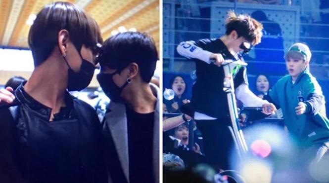 Nhiều lần các chàng trai BTS 'xả thân' bảo vệ nhau trước nguy hiểm