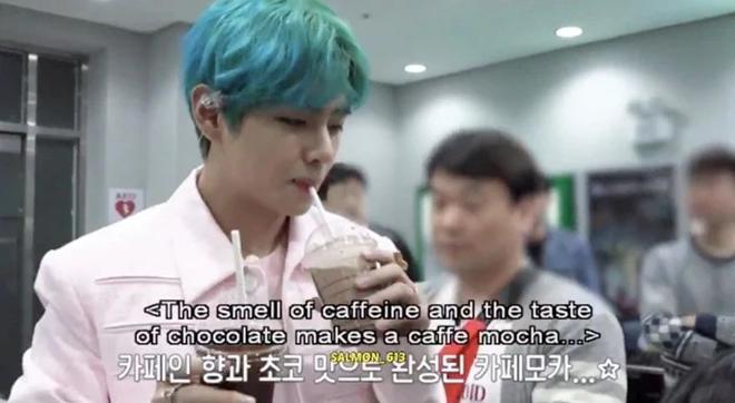 BTS, V BTS, Cách V BTS uống cà phê mocha, IONIQ I'm on it, Dynamite, J-Hope
