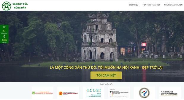 """Website """"Cam kết của công dân Hà Nội"""""""