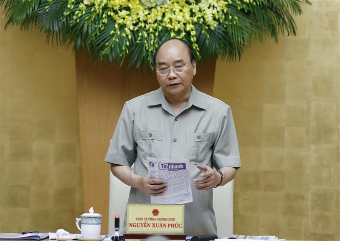 Trong ảnh: Thủ tướng Nguyễn Xuân Phúc phát biểu. Ảnh: Thống Nhất – TTXVN