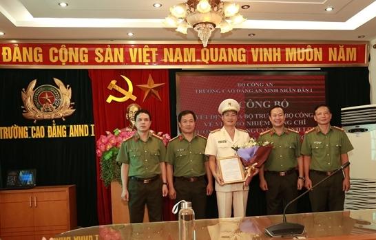 bổ nhiệm Thượng tá Nguyễn Thành Long, Trưởng Phòng Chính trị giữ chức vụ Phó Hiệu trưởng Trường Cao đẳng An ninh nhân dân I.
