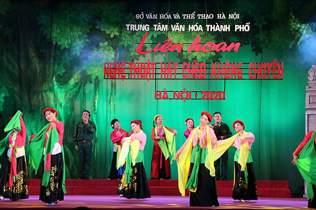 Liên hoan Nghệ thuật hát Chèo không chuyên Hà Nội năm 2020 có sự tham dự của 25/30 quận, huyện, thị xã trên địa bàn Thành phố.