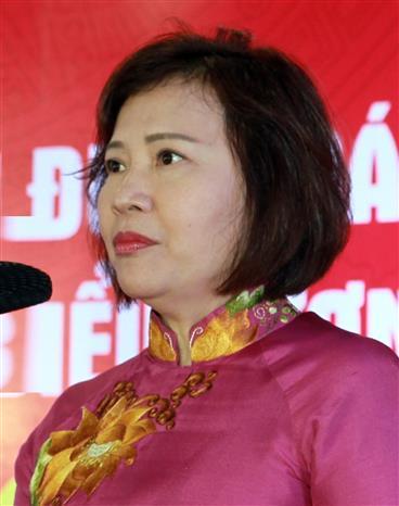 Trong ảnh: Bà Hồ Thị Kim Thoa. Ảnh: TTXVN