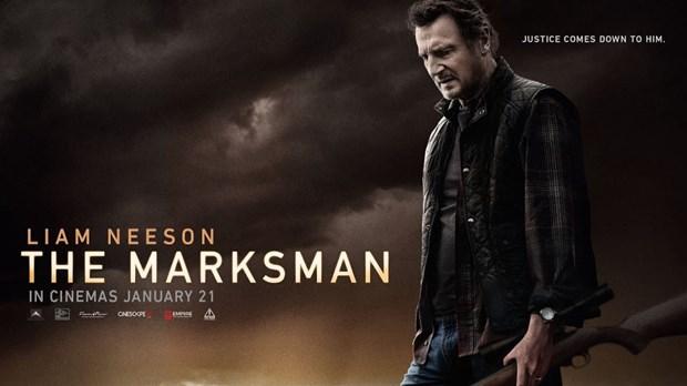 """bộ phim hành động gay cấn """"The Marksman"""" của hãng Open Road vẫn điềm nhiên tiếp tục đứng đầu danh sách các bộ phim ăn khách nhất tại thị trường Bắc Mỹ cuối tuần qua"""