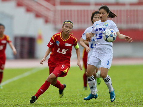 TP.HCM 1 của tuyển thủ QG Huỳnh Như đang cho thấy dấu hiệu chững lại ở mùa giải năm nay. Ảnh: Anh Duy