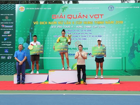 Alize Lim vô địch đơn nữ. Ảnh: Trần Tú