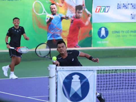 Hoàng Nam cùng Quốc Khánh cũng góp mặt ở trận chung kết đôi nam của giải. Ảnh: TT
