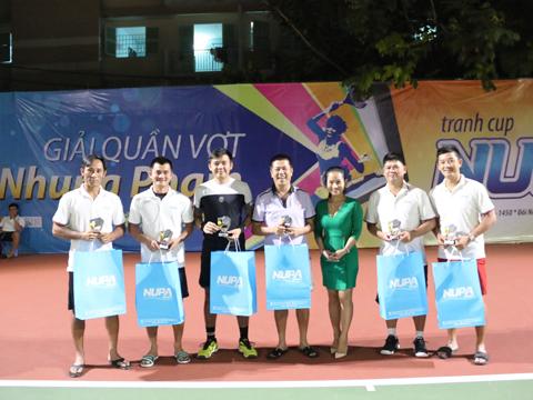 Lý Hoàng Nam cùng các tay vợt tên tuổi dự giải này. Ảnh: TT