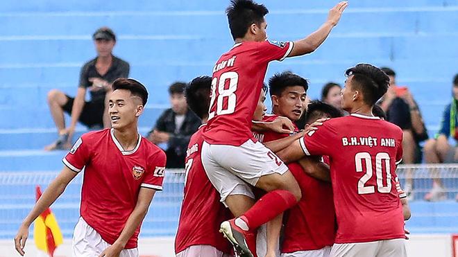 Hồng Lĩnh Hà Tĩnh xứng đáng lên hạng V-League 2020 với phong độ thuyết phục ở mùa giải hạng Nhất 2019. Ảnh: VPF