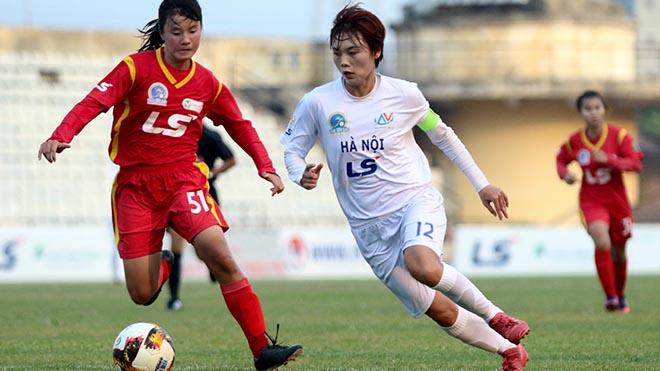Đội trưởng Hải Yến giúp Hà Nội duy trì cơ hội đua vô địch. Ảnh: PH