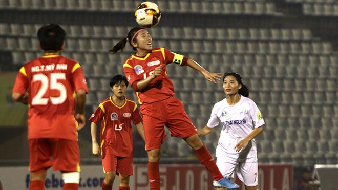 Huỳnh Như trở lại trong ngày TP.HCM đại thắng TNG Thái Nguyên 8 bàn không gỡ. Ảnh: PH
