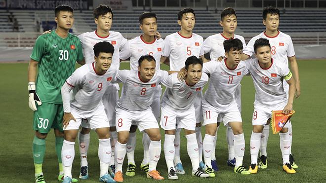 Thủ môn Văn Toản có thể lại xuất hiện ở bán kết khi gặp U22 Campuchia. Ảnh: Hoàng Linh