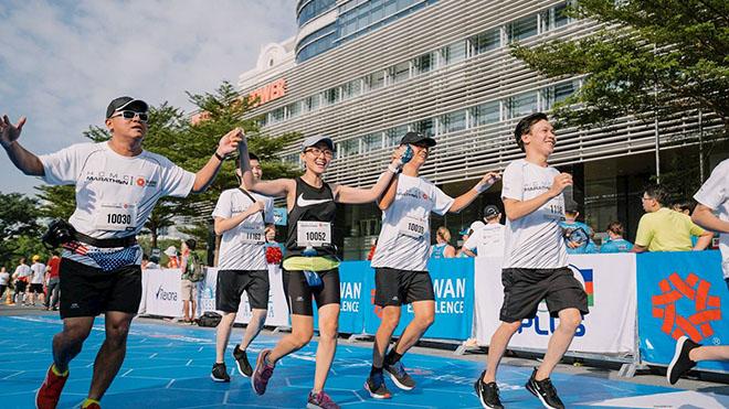 """""""Hơn cả một cuộc đua"""" là thông điệp của HCMC Marathon TPHCM 2020. Ảnh: BM"""