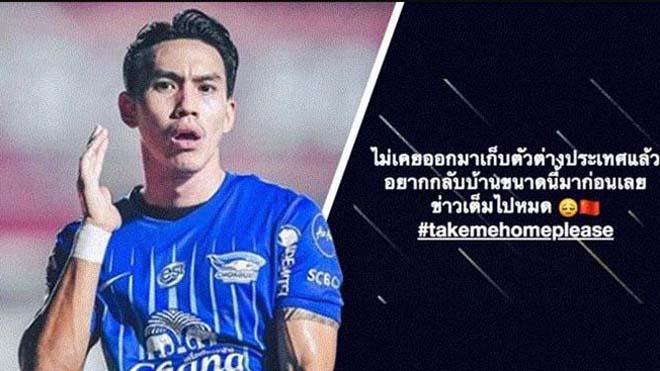 Tiền đạo người Thái Lan Winothai sợ hãi với virus Corona khi cùng Buriram United đến Thượng Hải thi đấu