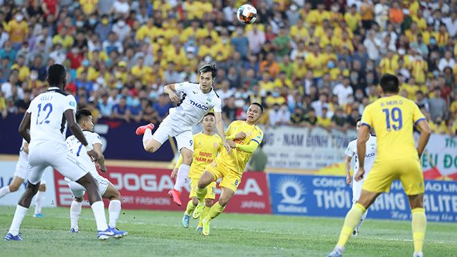 DNH Nam Định có thể đánh bại HAGL 4 bàn không gỡ trận này. Ảnh: Hoàng Linh