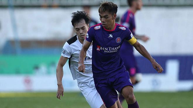 Đội trưởng Văn Triền của Sài Gòn FC hiện tại là tài năng sáng giá bậc nhất của bóng đá Bình Định. Ảnh: VPF