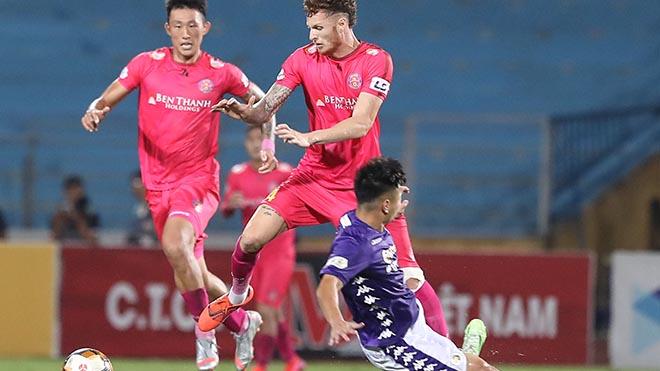 Cầu thủ người Brazil Geovane rất có duyên ghi bàn vào lưới Hà Nội và HAGL. Ảnh: Hoàng Linh