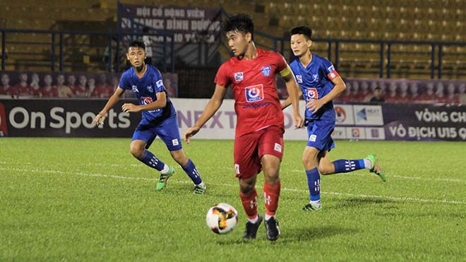 U15 PVF (đỏ) xứng đáng vô địch giải năm nay. Ảnh: TD
