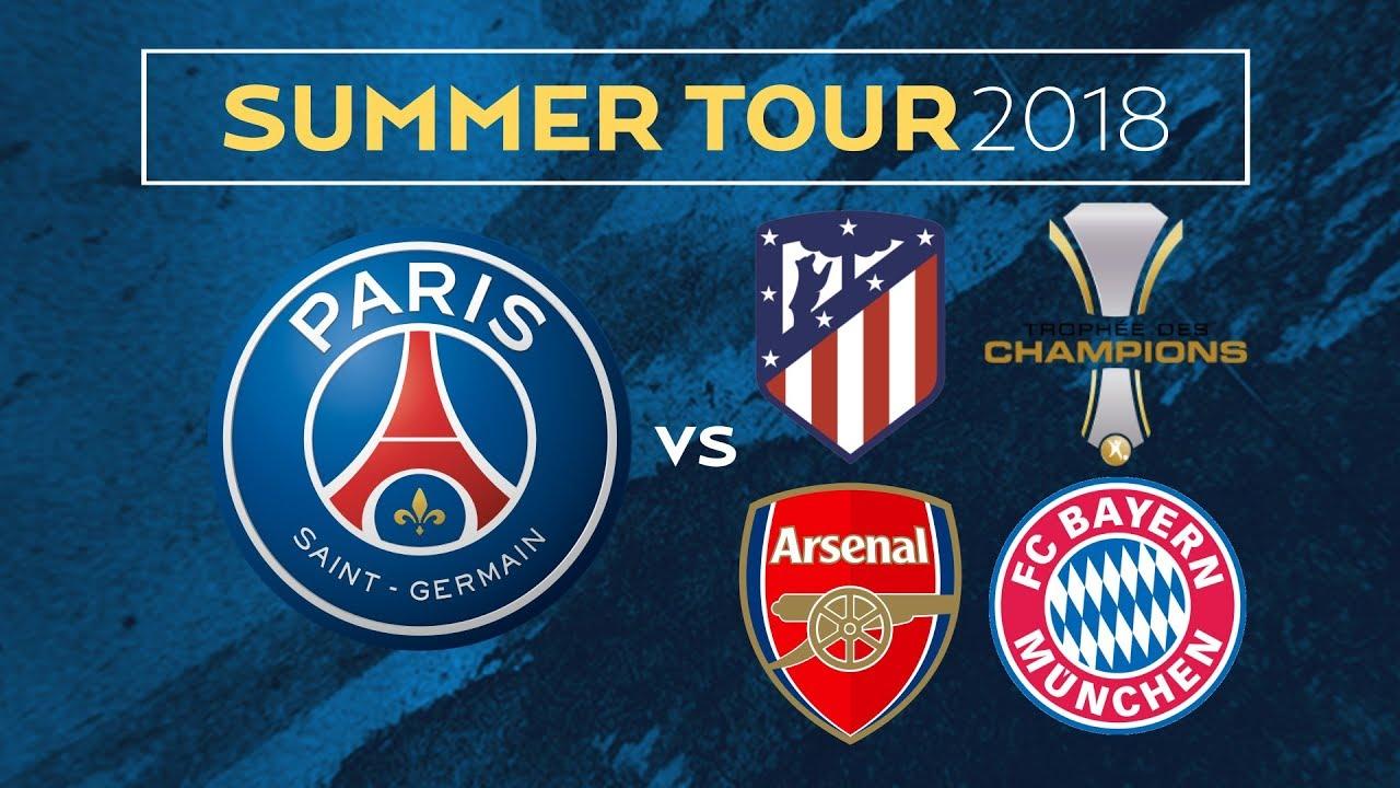 Trực tiếp bóng đá, xem trực tiếp Bayern Munich, trực tiếp Bayern Munich vs PSG, Lịch đấu giao hữu mùa Hè 2018 của Bayern Munich, Bayern Munich du đấu mùa Hè ở đâu