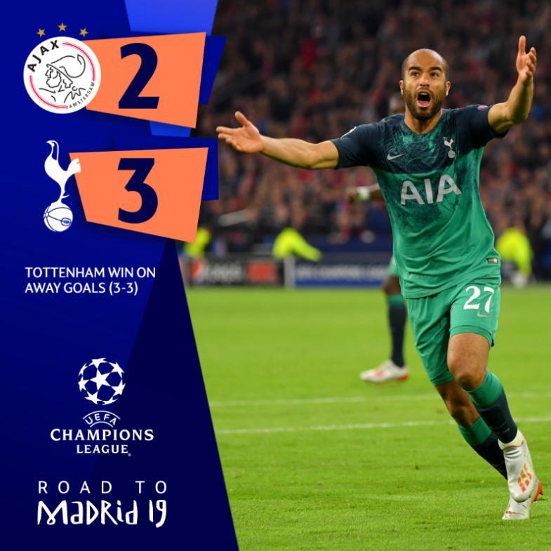 Tottenham, Ajax, video bàn thắng Tottenham vs Ajax, Ajax 2-3 Tottenham, clip bàn thắng Ajax 2-3 Tottenhan, Bán kết Champions League, Cúp C1, Tottenham vào Chung kết C1
