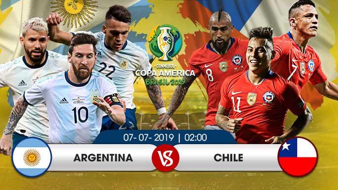 TRỰC TIẾP BÓNG ĐÁ Argentina vs Chile (02h ngày 7/7)