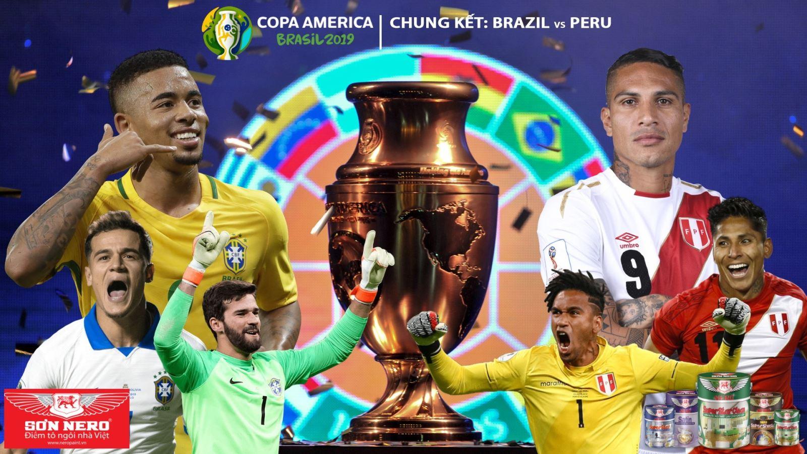 Soi kèo Brazil vs Peru (03h ngày 8/7). Trực tiếp bóng đá Chung kết Copa America 2019